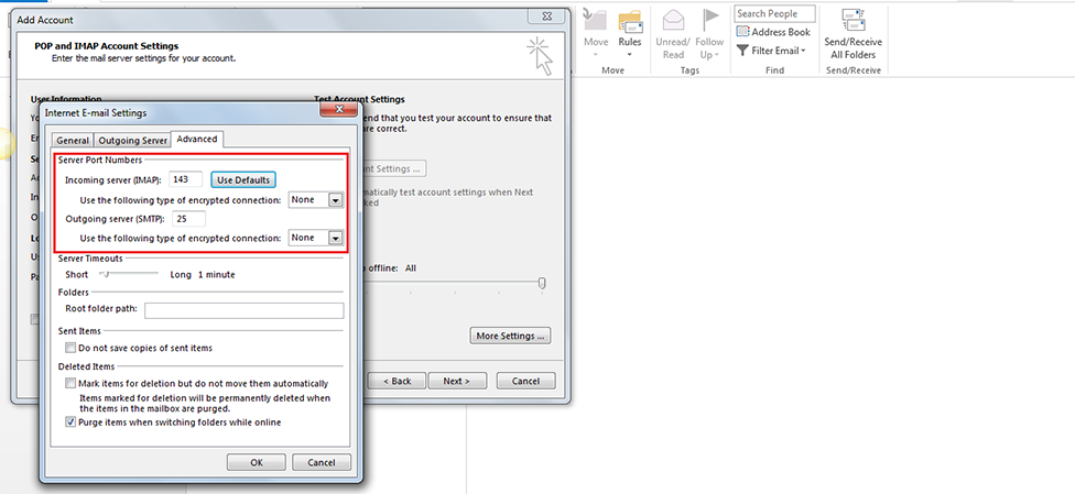 Step 10/13. How do I set up my email in Microsoft Outlook 2013/365?