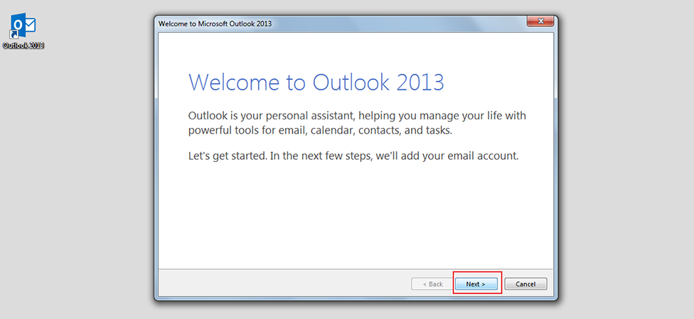 Step 2/13. How do I set up my email in Microsoft Outlook 2013/365?
