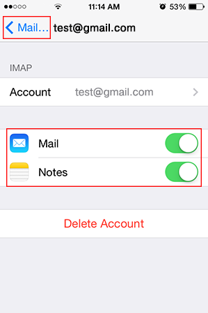 Step 10/11. How do I set up my email account using IMAP for Apple iPhone for Google mail?