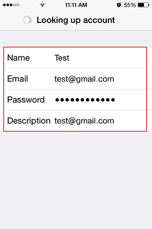 Step 6/11. How do I set up my email account using IMAP for Apple iPhone for Google mail?