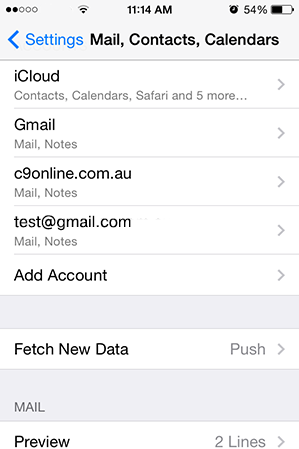 Step 9/11. How do I set up my email account using IMAP for Apple iPhone for Google mail?