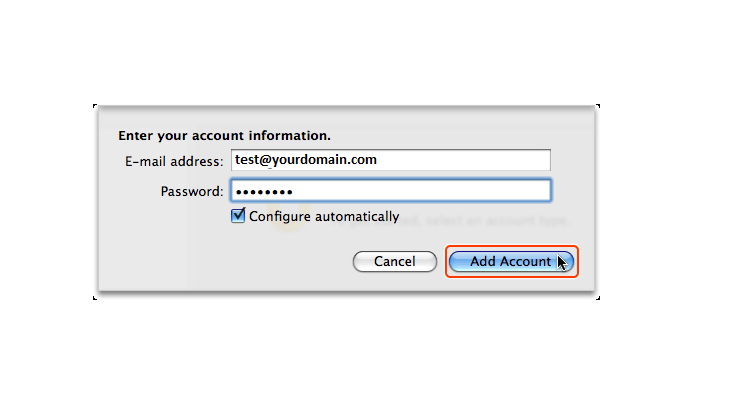 Step 4/6. How do I set up my email in Microsoft Outlook for Mac 2011?