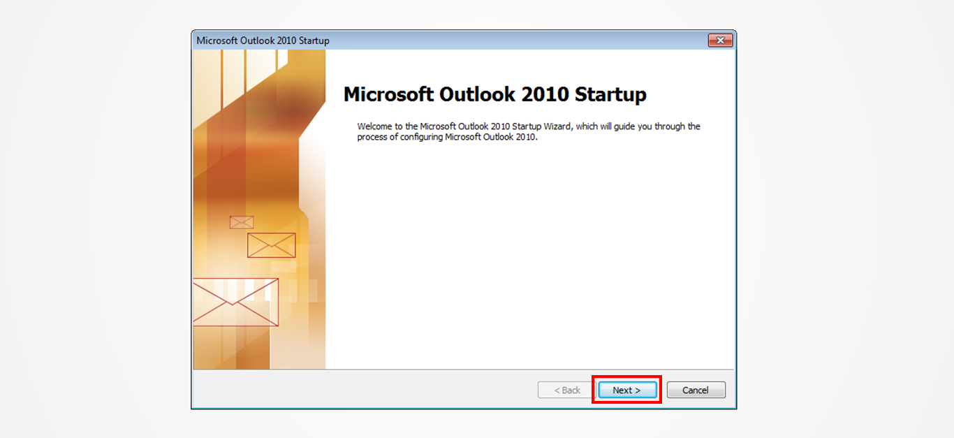 Step 2/12. How do I set up my email in Microsoft Outlook 2010?