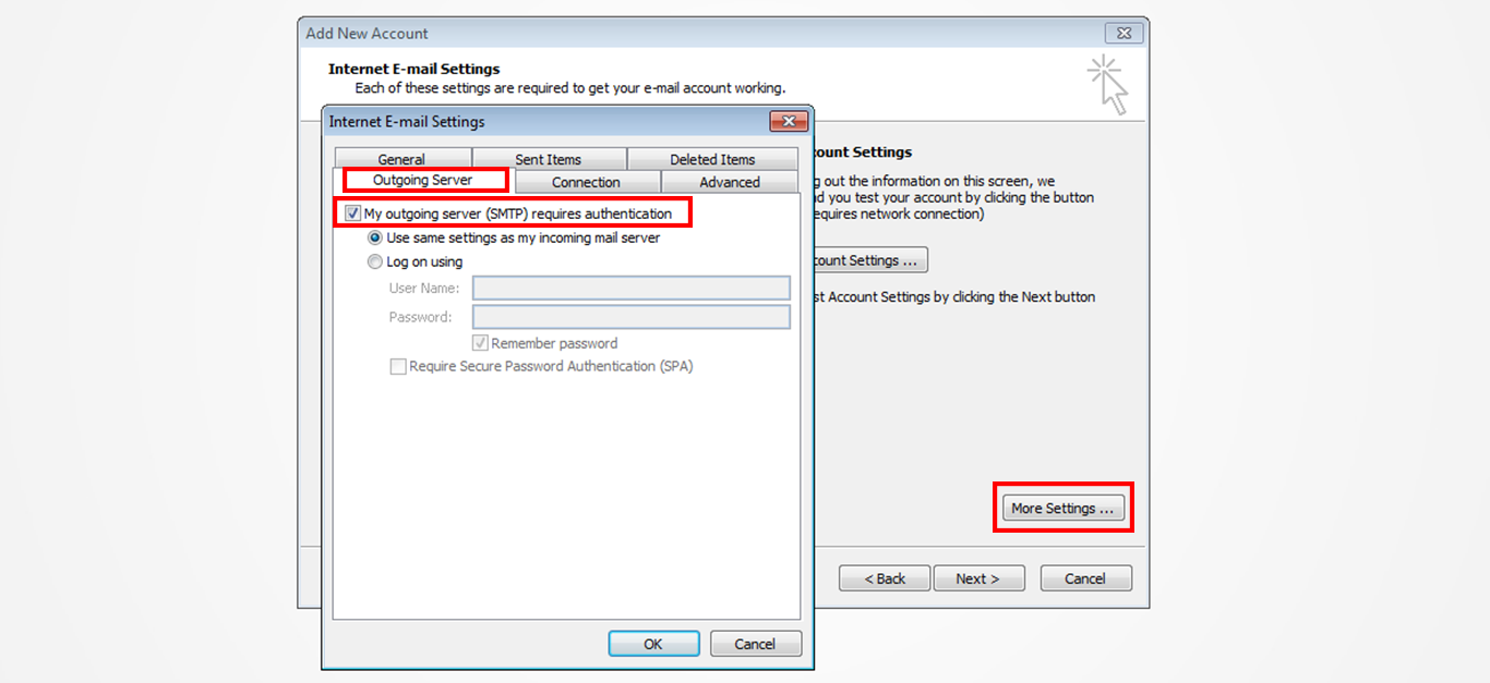 Step 8/12. How do I set up my email in Microsoft Outlook 2010?