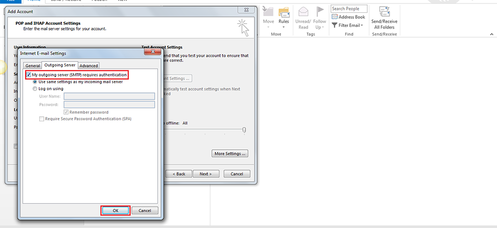 Step 9/12. How do I set up my FX mail for Microsoft Outlook 2013/365 ?