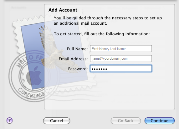 Step 3/6. How do I set up my FX mail account in Apple Mail?