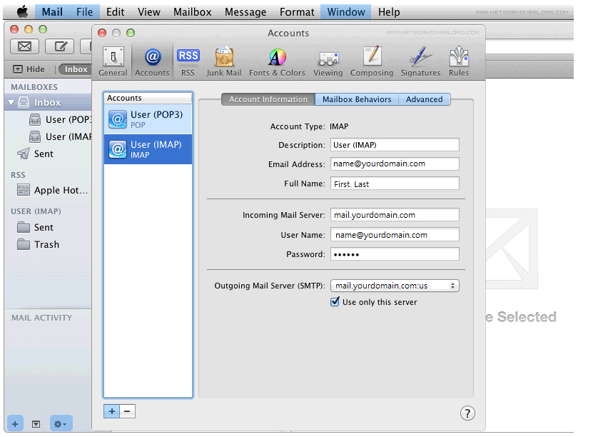 Step 4/6. How do I set up my FX mail account in Apple Mail?