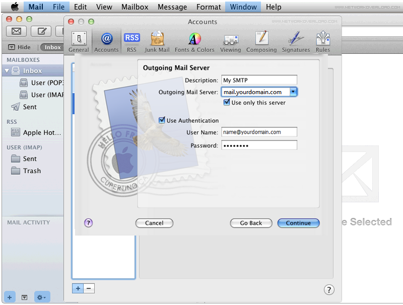 Step 5/6. How do I set up my FX mail account in Apple Mail?