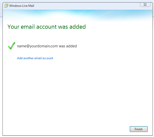 Step 7/7. How do I setup my email account in Windows Live?