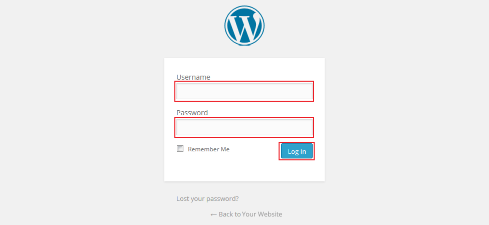 Login with your username and password on www.yourwebsite.com.au/wp-admin.