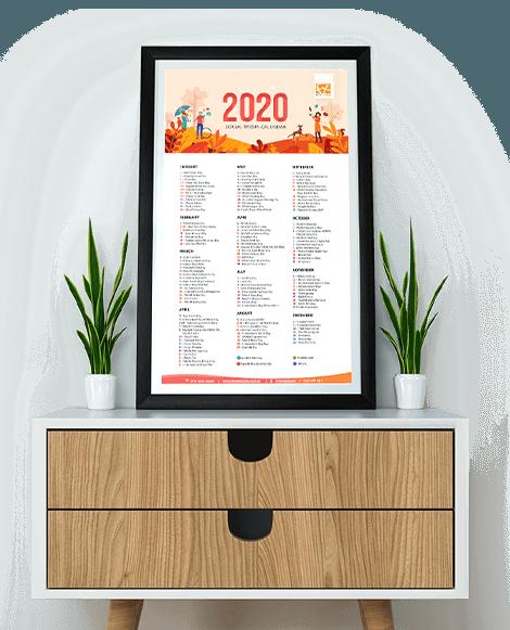 2020 Social  Media Calendar